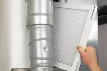 replacing an air filter can help improve indoor air quality
