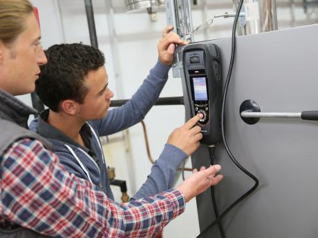 Technician testing equipment