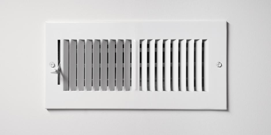 heating and cooling vent in a home