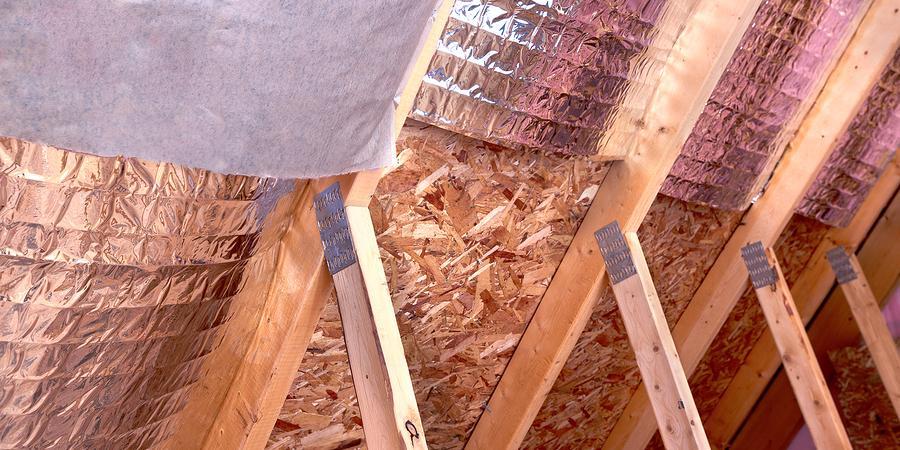 Incomplete attic insulation