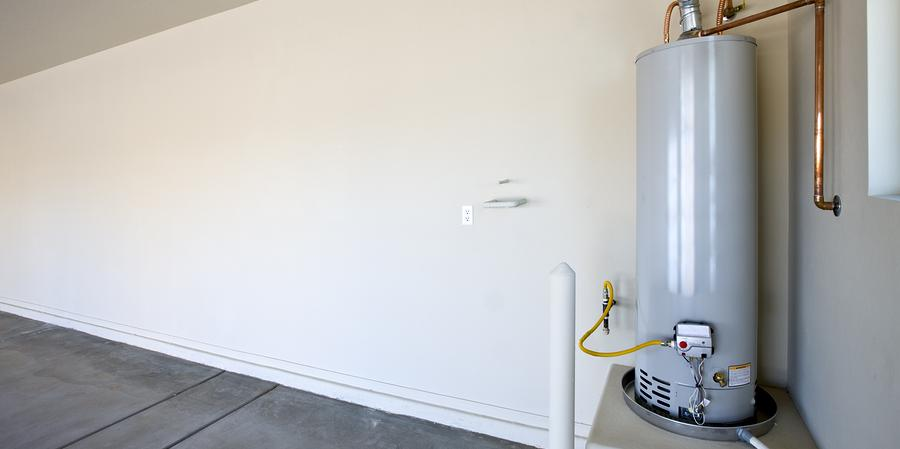 Home water heater inside